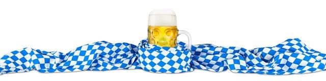 Birra bavarese della bandiera fotografie stock libere da diritti