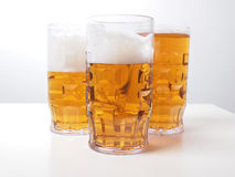 Birra chiara Immagini Stock