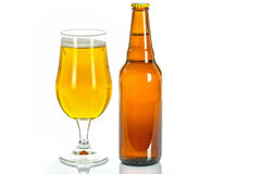 Birra chiara fredda Fotografie Stock