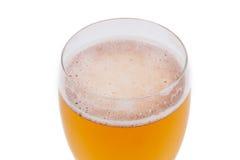 Birra chiara in un vetro Fotografia Stock Libera da Diritti