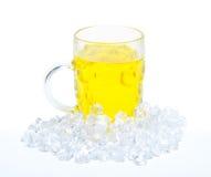 Birra con ghiaccio Fotografia Stock Libera da Diritti