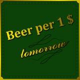 Birra del fondo per dollaro Fotografia Stock Libera da Diritti