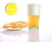Birra del grano del Belgio Fotografia Stock