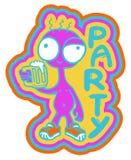 Birra del partito Immagini Stock