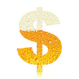 Birra $ di alfabeto Immagini Stock Libere da Diritti