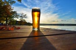 Birra di autunno Fotografia Stock