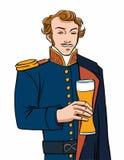 Birra di capitano Immagini Stock