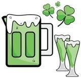 Birra di giorno della st Patrick illustrazione di stock