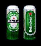 Birra di Heineken Fotografie Stock