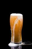 Birra di straripamento Immagine Stock