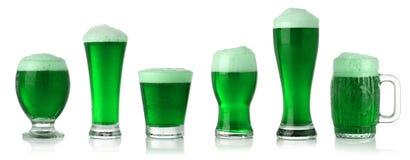 Birra di verde di giorno della st Patrick Immagini Stock Libere da Diritti
