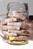 Birra di vetro Immagini Stock