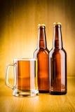 Birra di vetro. Immagini Stock