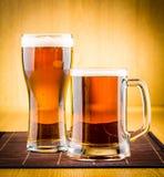 Birra di vetro Fotografia Stock