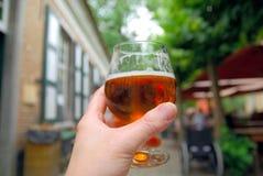 Birra a disposizione immagini stock libere da diritti