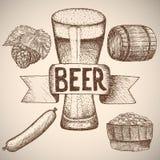 Birra Dissipare a mano Immagine Stock Libera da Diritti