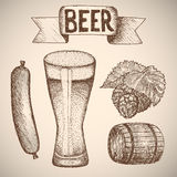 Birra Dissipare a mano Fotografia Stock