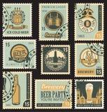 Birra e fabbrica di birra Fotografie Stock Libere da Diritti