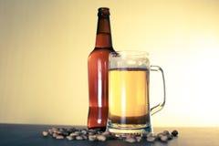 Birra e spuntini immagine stock libera da diritti