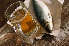 Birra e spuntino a birra fotografia stock