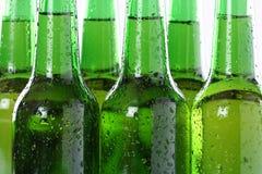 Birra ghiacciata in bottiglie Fotografia Stock Libera da Diritti