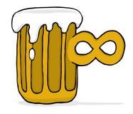 Birra infinita senza fine Fotografie Stock