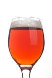 Birra inglese rossa sopra bianco Immagini Stock Libere da Diritti