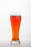 Birra inglese rossa sopra bianco Fotografie Stock Libere da Diritti