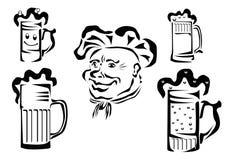 Birra, logotype, contrassegno. Fotografia Stock