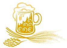 Birra, luppolo, orzo Fotografie Stock Libere da Diritti