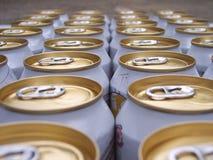 Birra nella riga Immagini Stock