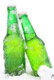 Birra in neve fotografia stock