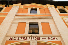 Birra Peroni muzeum w Rzym Zdjęcie Stock