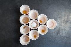 Birra Pong Gioco popolare ai partiti Posto per il vostro testo Immagini Stock Libere da Diritti