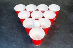 Birra Pong Gioco popolare ai partiti Posto per il vostro testo Fotografia Stock
