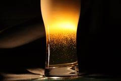 Birra su oscurità Immagini Stock Libere da Diritti