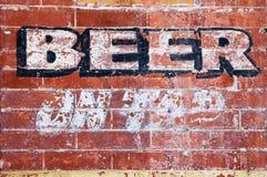 Birra sul colpetto Fotografia Stock