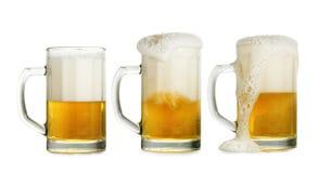 Birra tre Immagini Stock Libere da Diritti