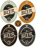 Birra in un retro stile Fotografia Stock Libera da Diritti