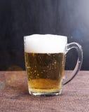 Birra in un singolo fondo Immagini Stock