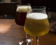 Birra in vari colori fotografie stock libere da diritti