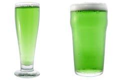 Birra verde Fotografia Stock Libera da Diritti