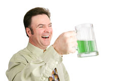 Birra verde il giorno della st Patricks Fotografie Stock Libere da Diritti