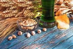 Birra verde, ingredienti, spuntini per il giorno del ` s di Patrick Fotografia Stock Libera da Diritti