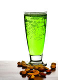 Birra verde irlandese Fotografia Stock Libera da Diritti