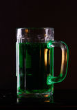 Birra verde irlandese Immagine Stock Libera da Diritti