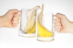 Birra in vetro Fotografie Stock Libere da Diritti