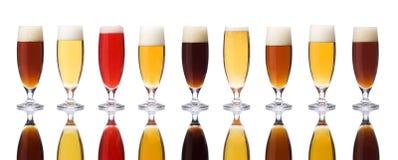Birre isolate fotografia stock