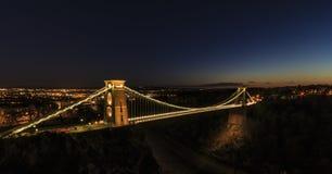 Birstol horisont och Clifton Suspension Bridge Royaltyfria Bilder