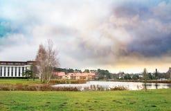 Birstonas市风景在立陶宛 免版税图库摄影